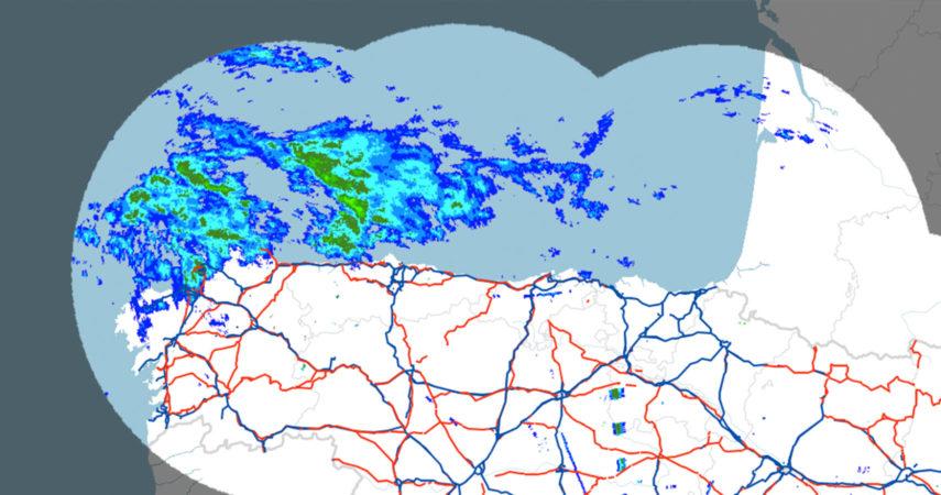 Radar meteorológico, carreteras DGT y GIS