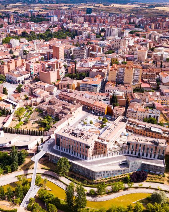 Aerial view of buildings in Guadalajara